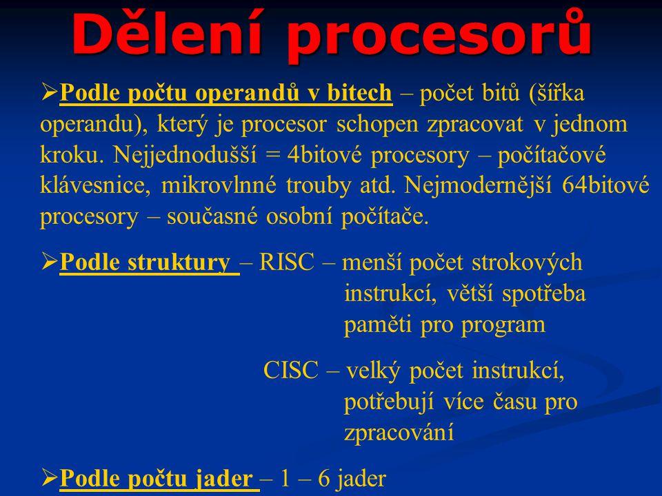 Dělení procesorů