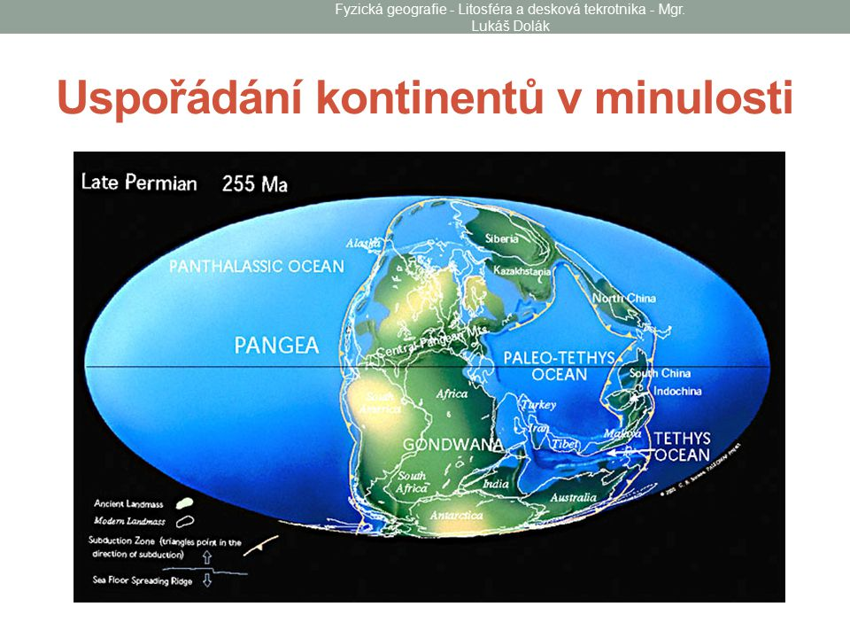 Uspořádání kontinentů v minulosti