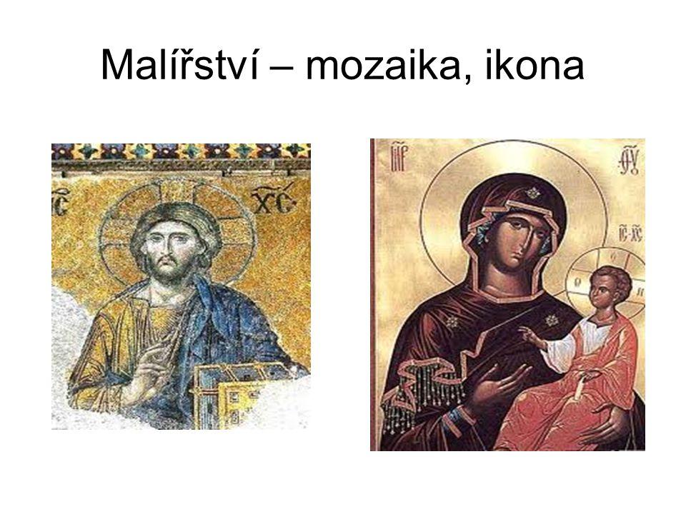 Malířství – mozaika, ikona