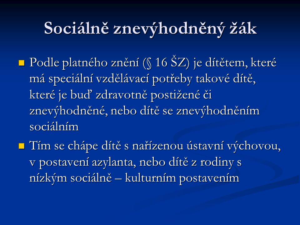 Sociálně znevýhodněný žák