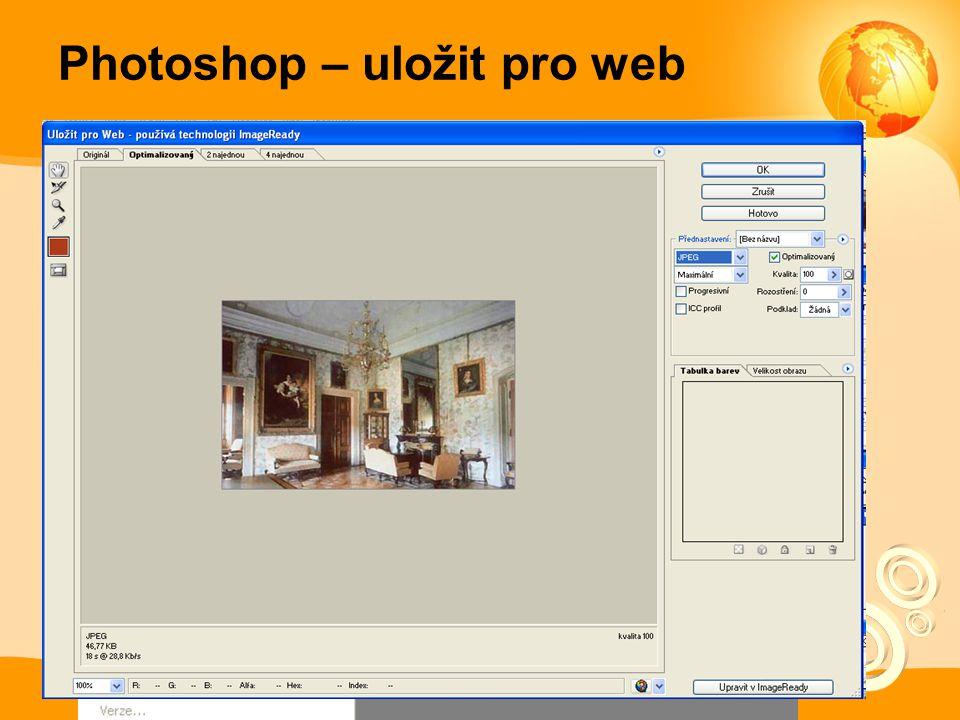 Photoshop – uložit pro web