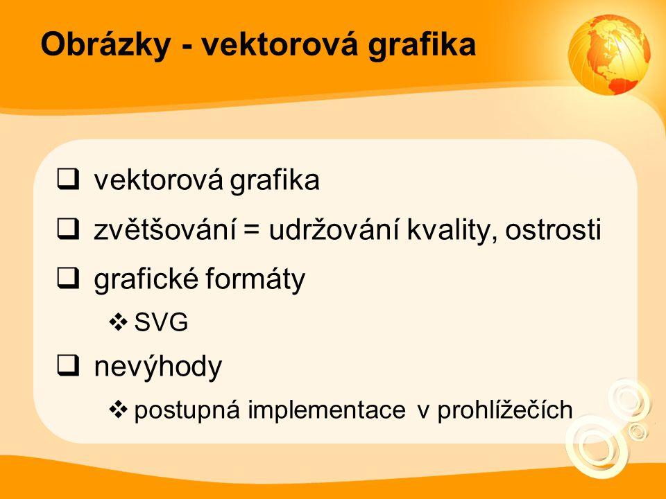 Obrázky - vektorová grafika