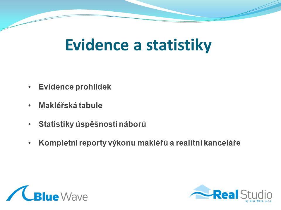 Evidence a statistiky Evidence prohlídek Makléřská tabule