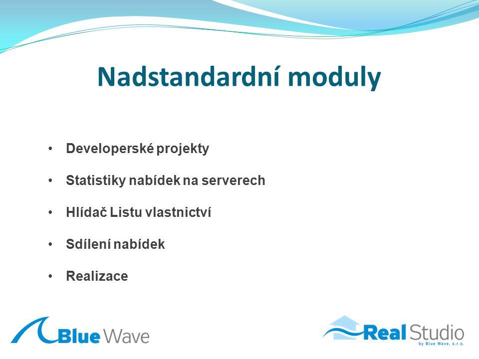 Nadstandardní moduly Developerské projekty