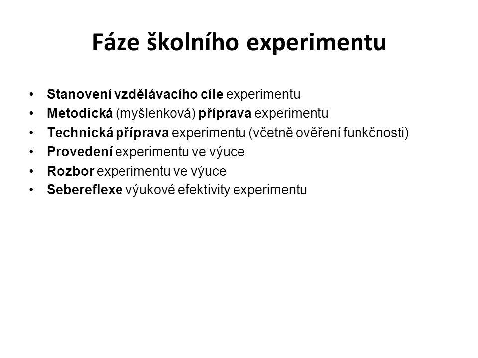 Fáze školního experimentu