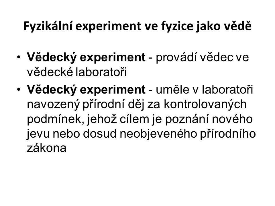 Fyzikální experiment ve fyzice jako vědě