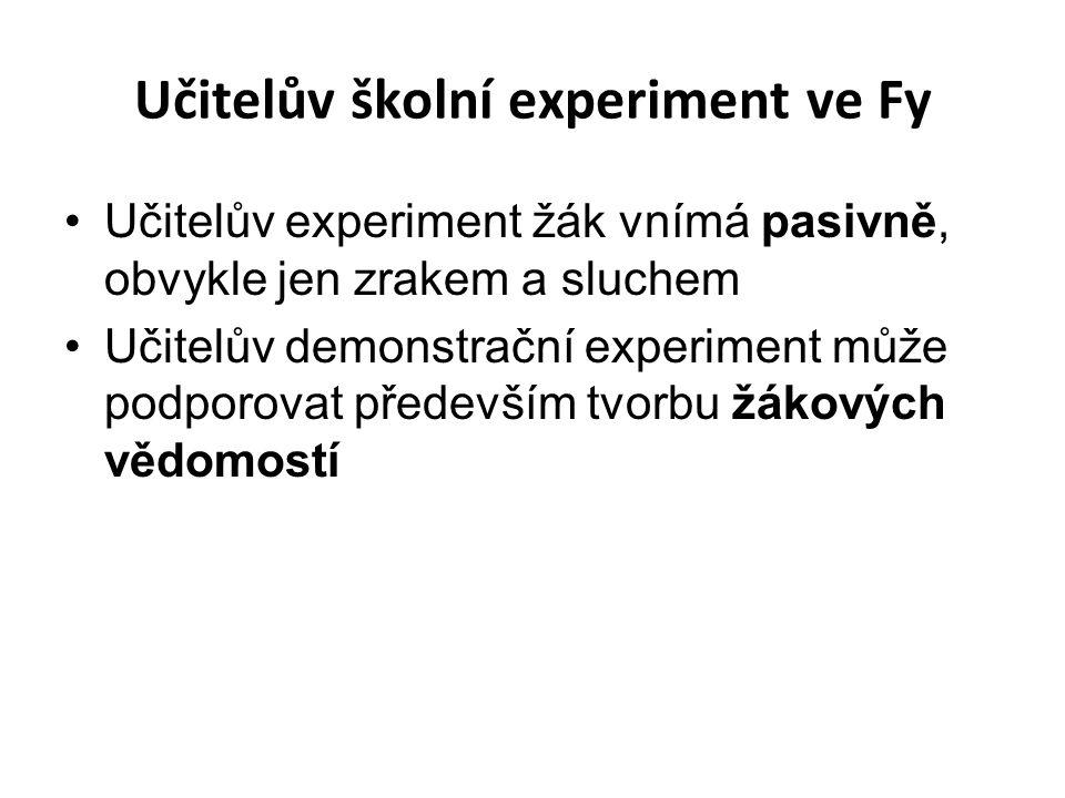Učitelův školní experiment ve Fy