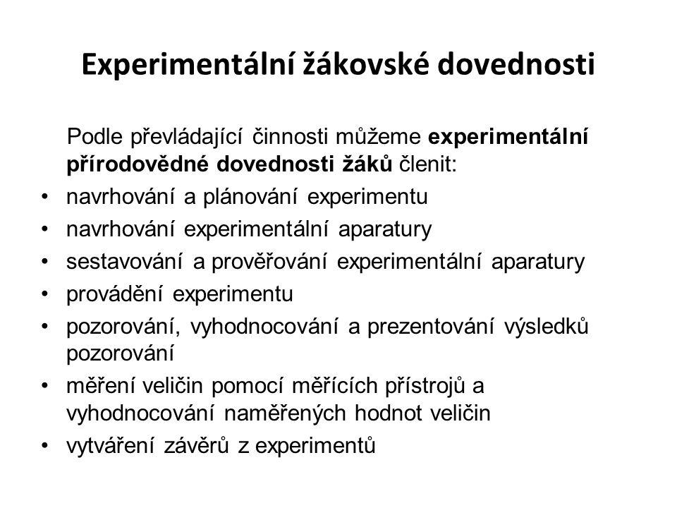 Experimentální žákovské dovednosti