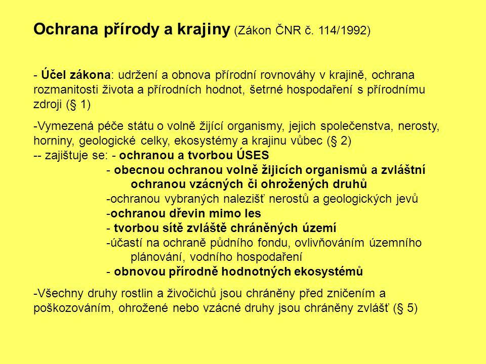 Ochrana přírody a krajiny (Zákon ČNR č. 114/1992)