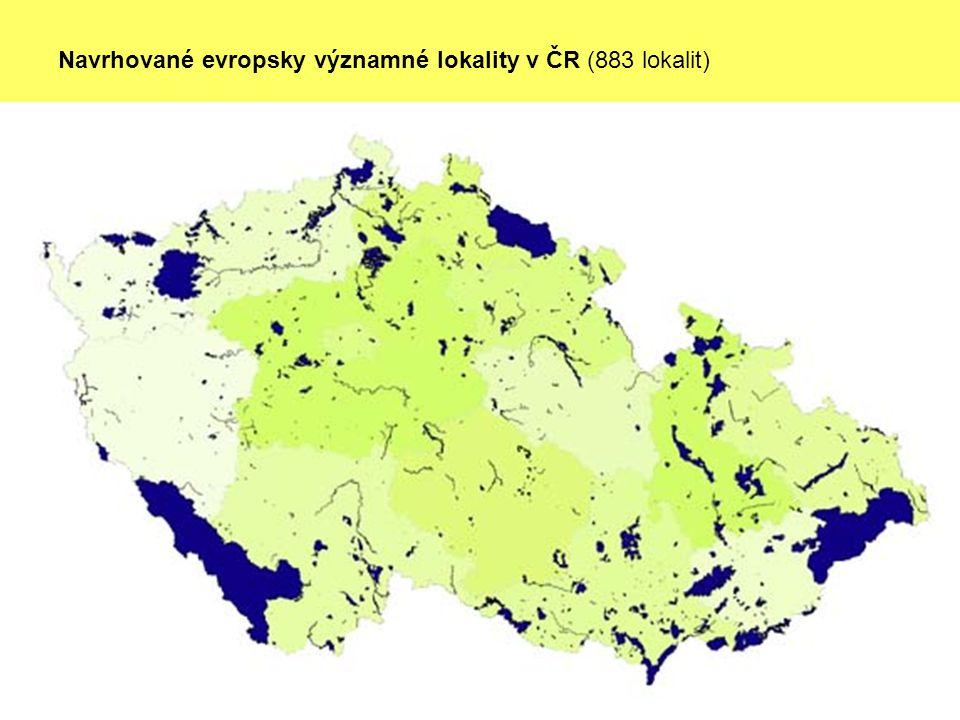 Navrhované evropsky významné lokality v ČR (883 lokalit)