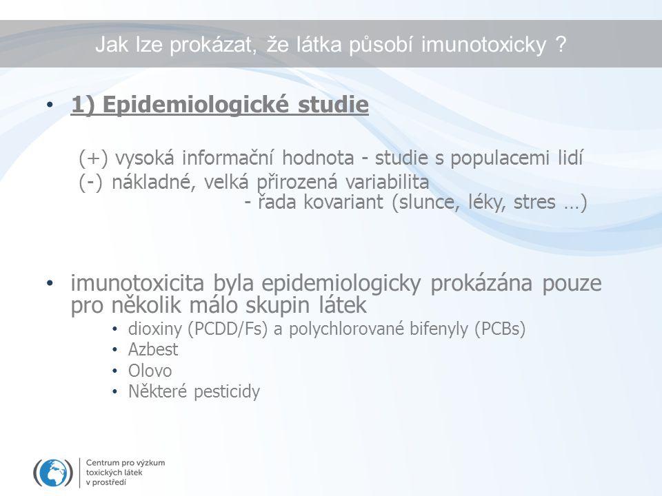 Jak lze prokázat, že látka působí imunotoxicky