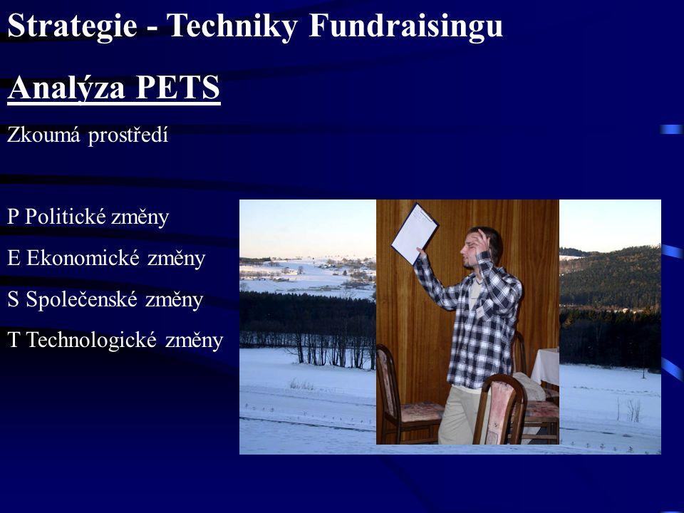 Strategie - Techniky Fundraisingu Analýza PETS