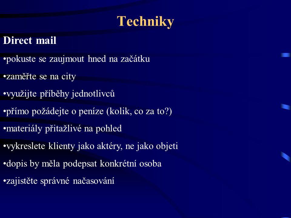 Techniky Direct mail pokuste se zaujmout hned na začátku