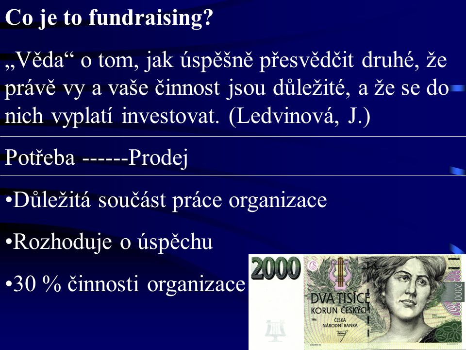 Co je to fundraising