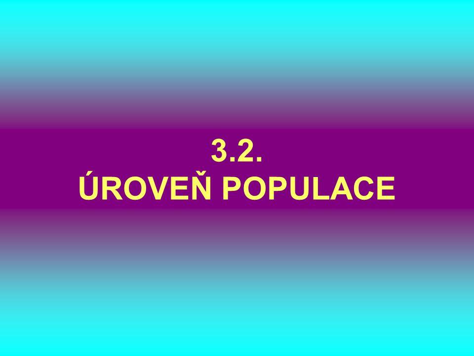 3.2. ÚROVEŇ POPULACE