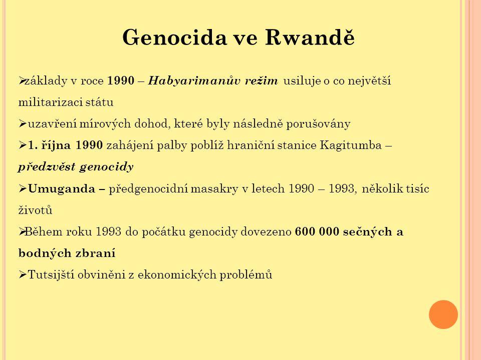 Genocida ve Rwandě základy v roce 1990 – Habyarimanův režim usiluje o co největší militarizaci státu.