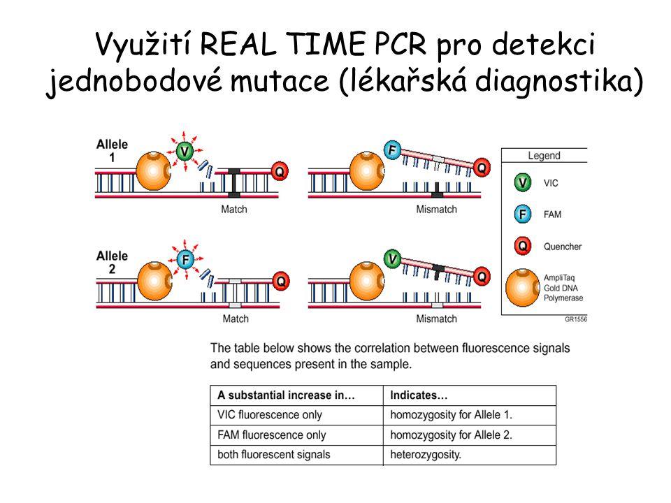 Využití REAL TIME PCR pro detekci jednobodové mutace (lékařská diagnostika)