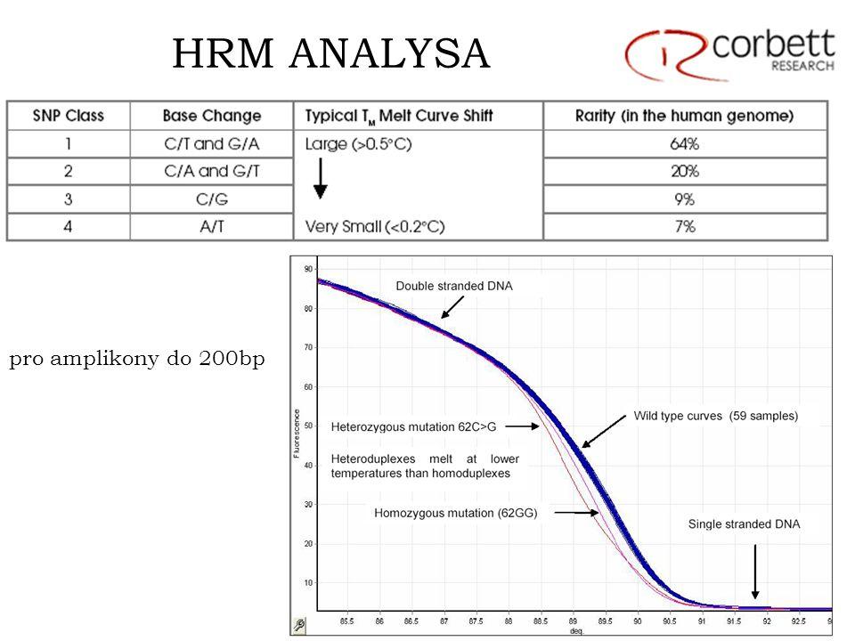 HRM ANALYSA pro amplikony do 200bp