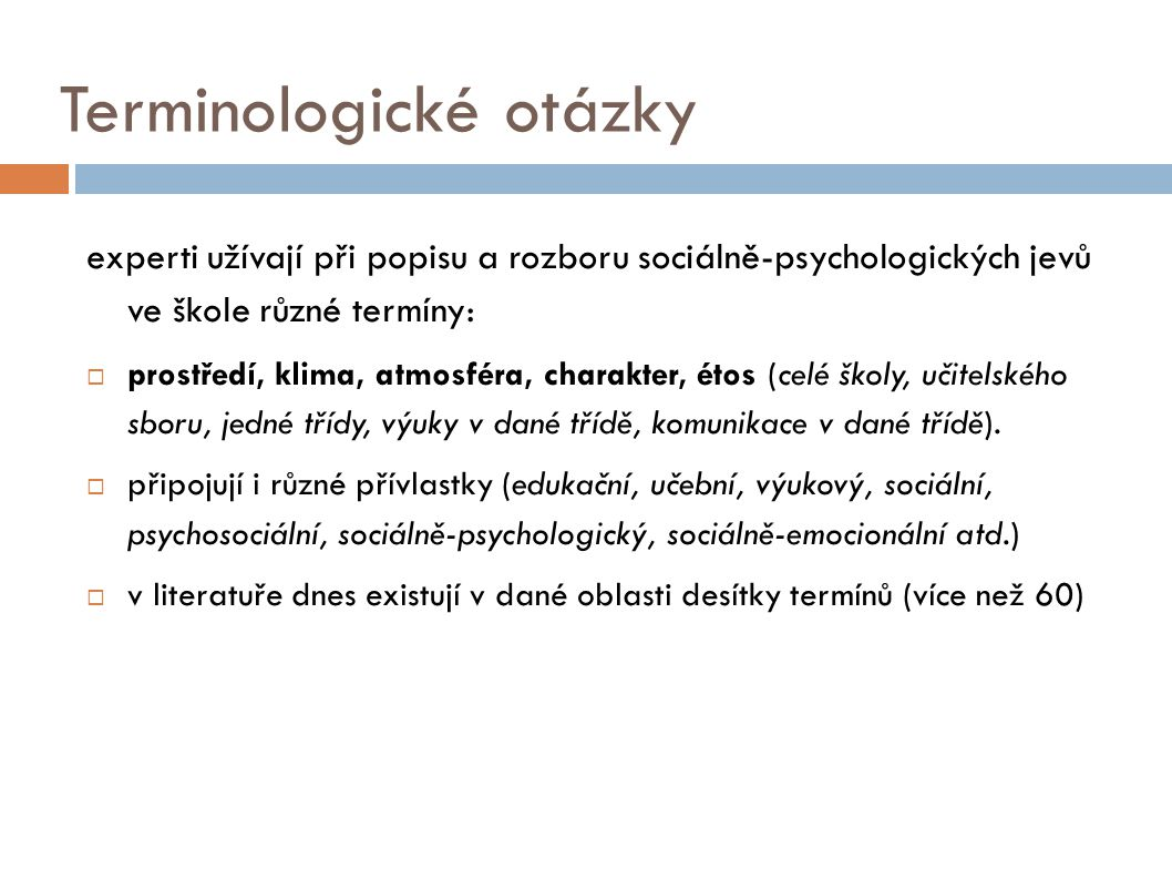 Terminologické otázky