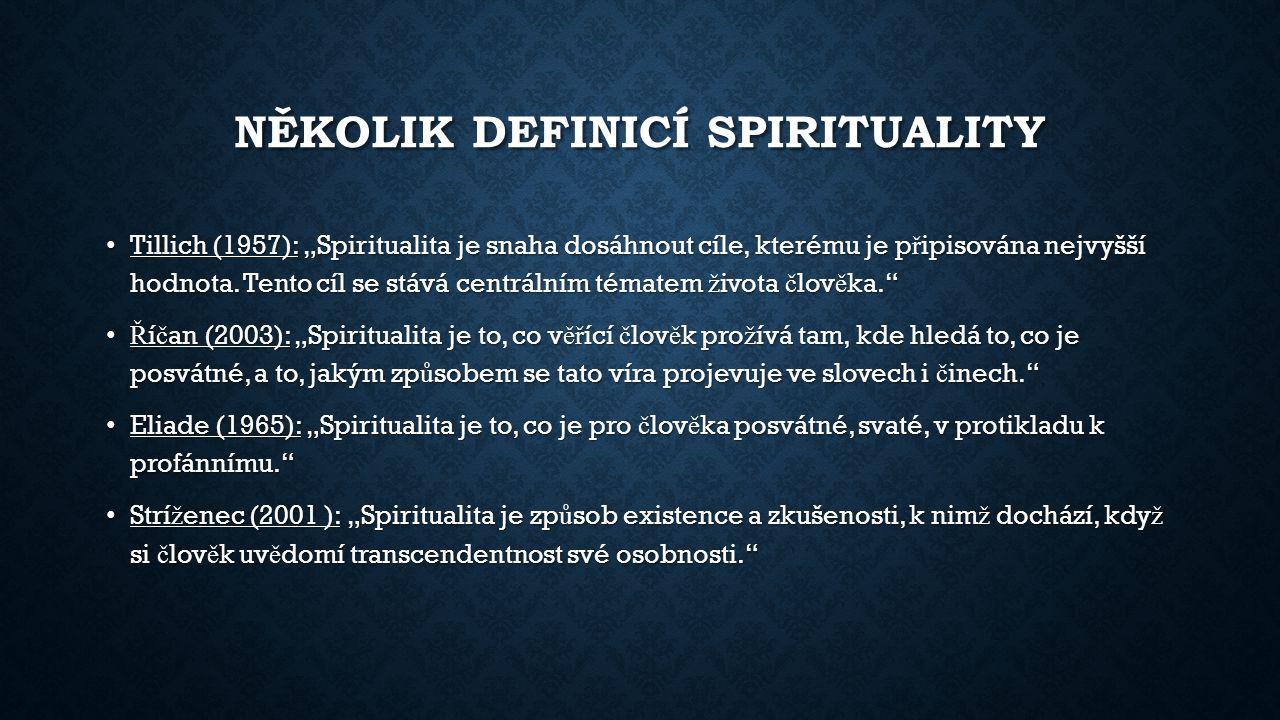 Několik definicí spirituality