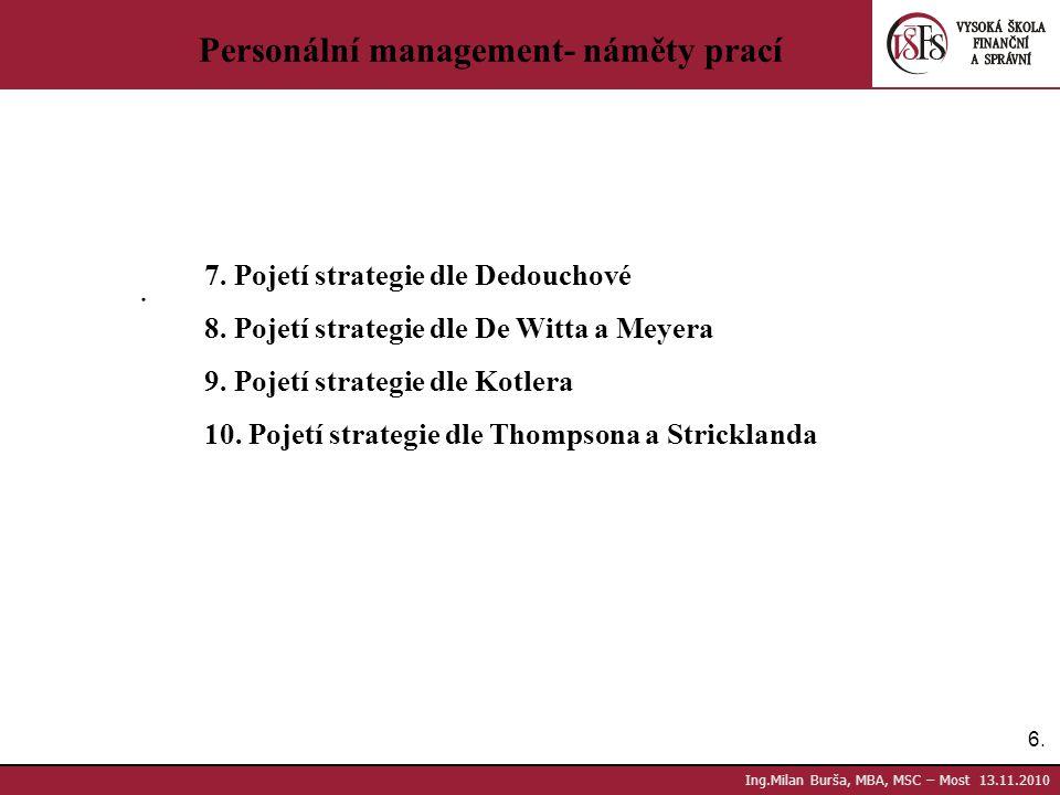 Personální management- náměty prací
