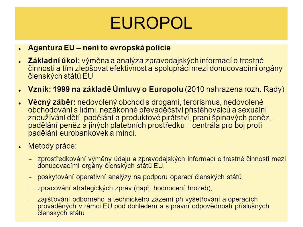 EUROPOL Agentura EU – není to evropská policie