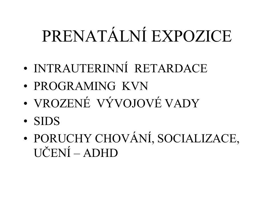 PRENATÁLNÍ EXPOZICE INTRAUTERINNÍ RETARDACE PROGRAMING KVN