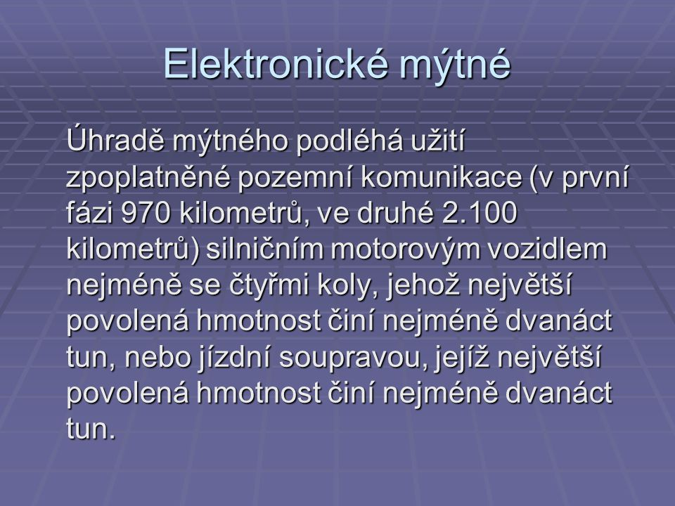 Elektronické mýtné