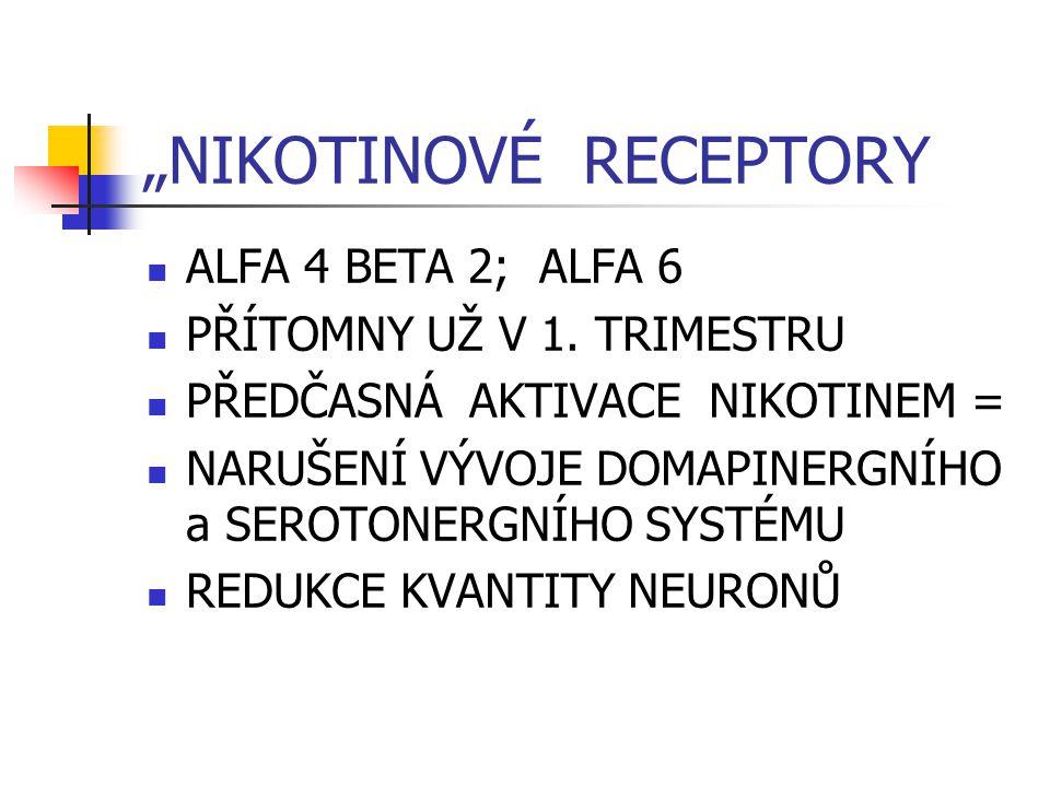 """""""NIKOTINOVÉ RECEPTORY"""