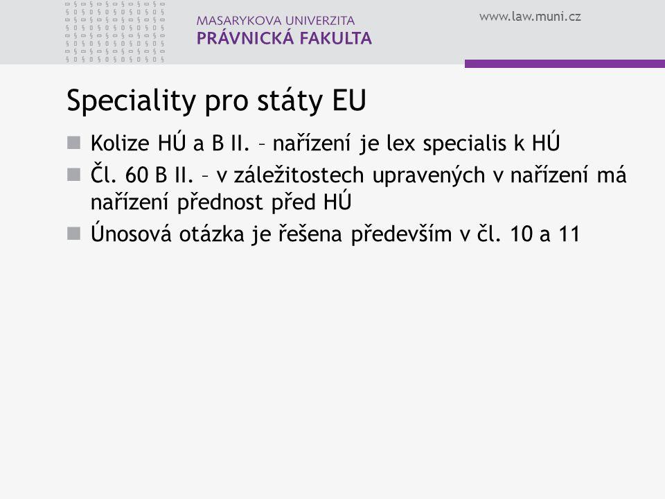 Speciality pro státy EU