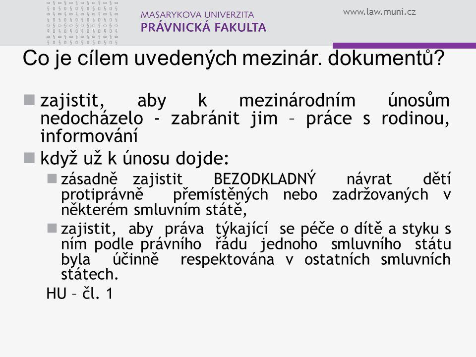 Co je cílem uvedených mezinár. dokumentů