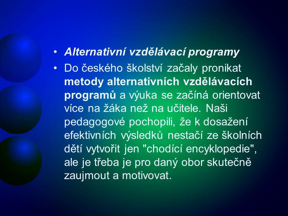Alternativní vzdělávací programy