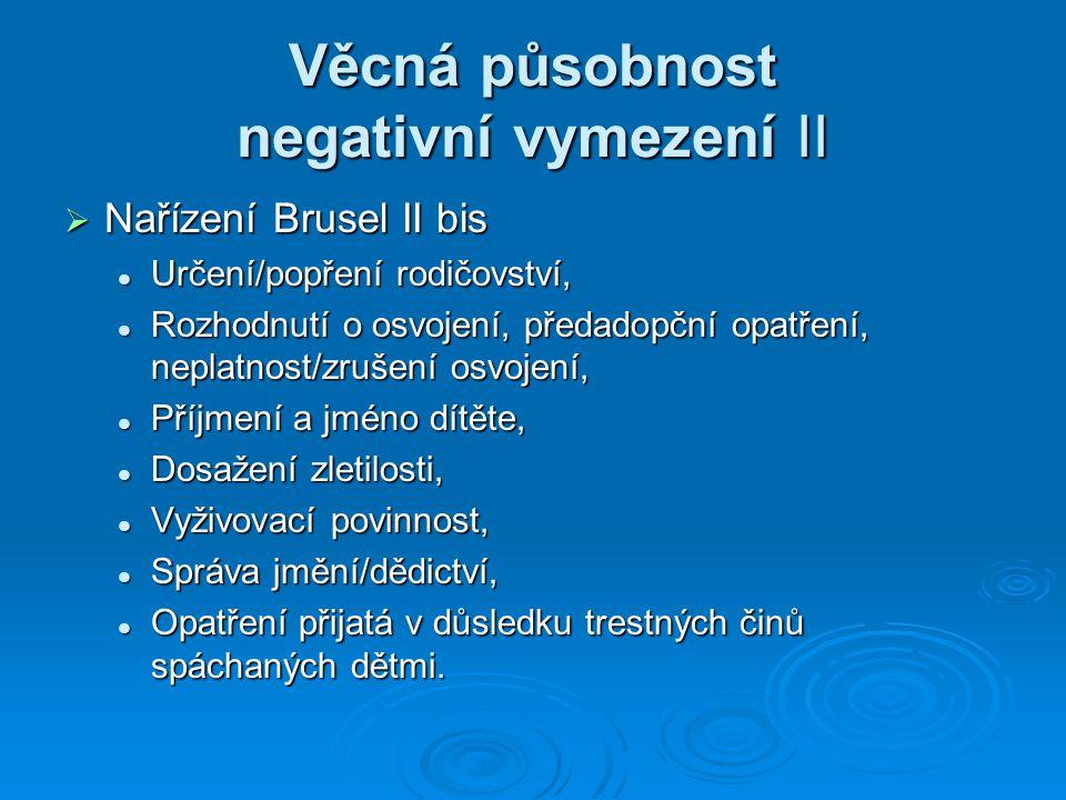 Věcná působnost negativní vymezení II
