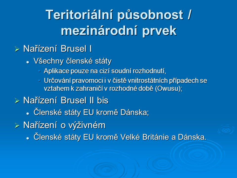Teritoriální působnost / mezinárodní prvek
