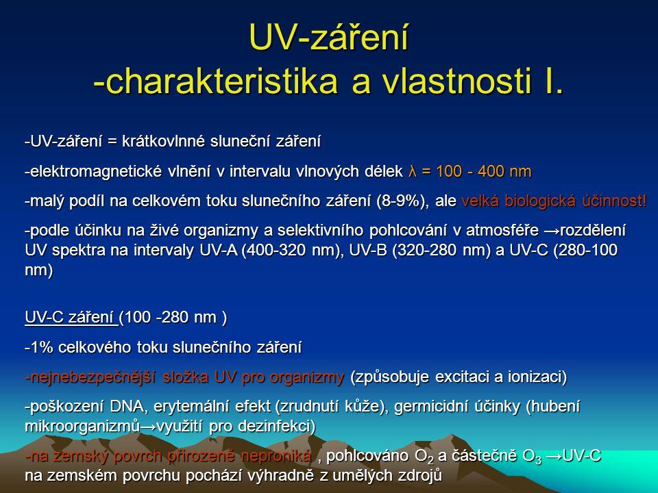UV-záření -charakteristika a vlastnosti I.