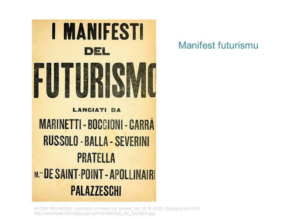 Manifest futurismu