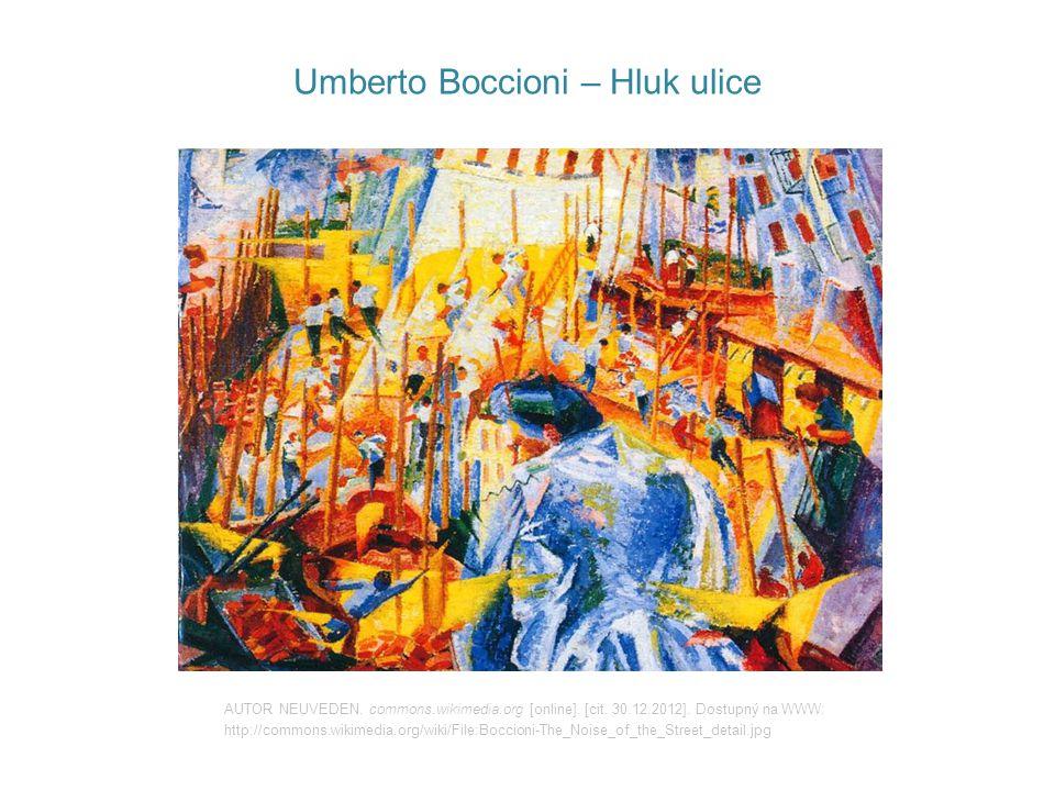 Umberto Boccioni – Hluk ulice