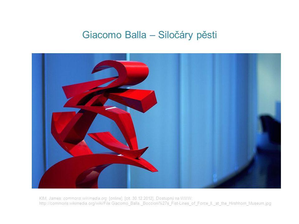 Giacomo Balla – Siločáry pěsti