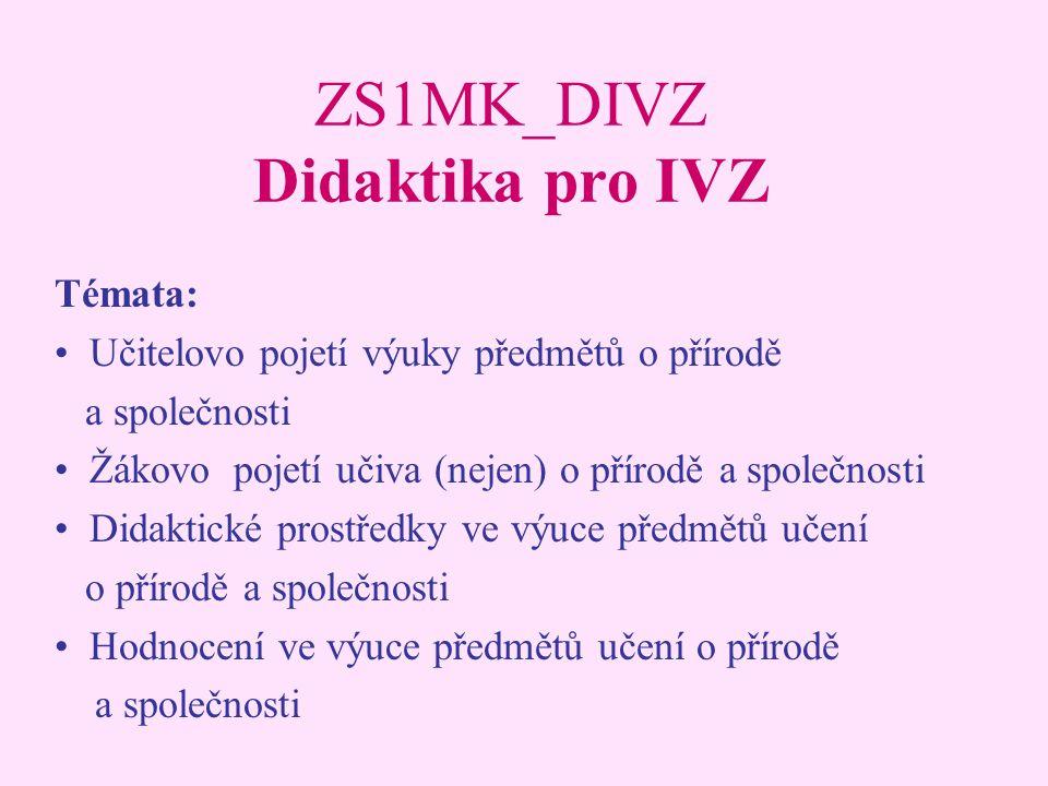 ZS1MK_DIVZ Didaktika pro IVZ