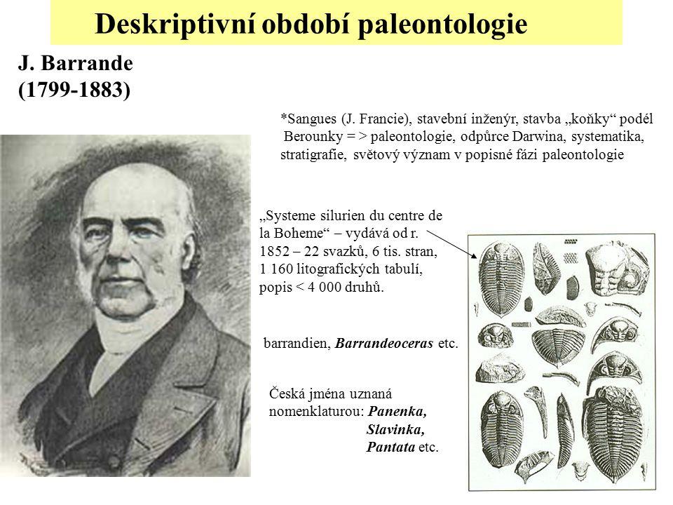 Deskriptivní období paleontologie