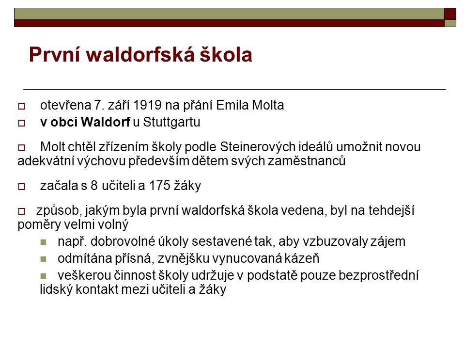 První waldorfská škola