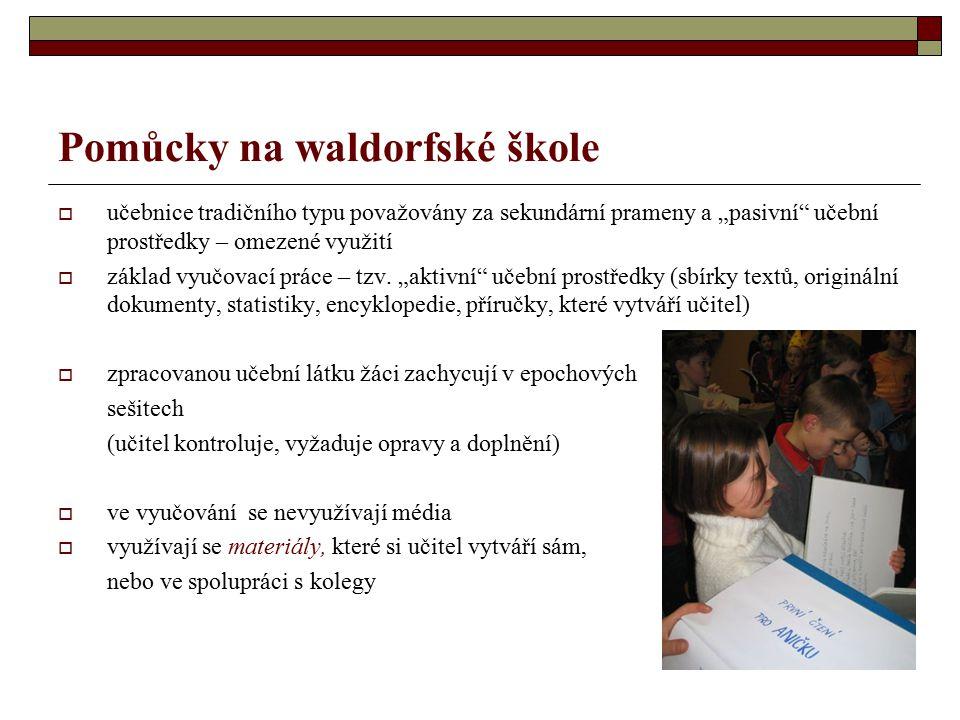 Pomůcky na waldorfské škole