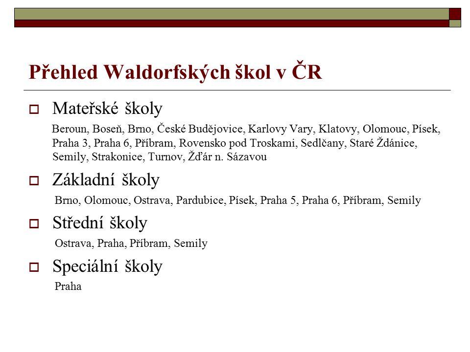 Přehled Waldorfských škol v ČR