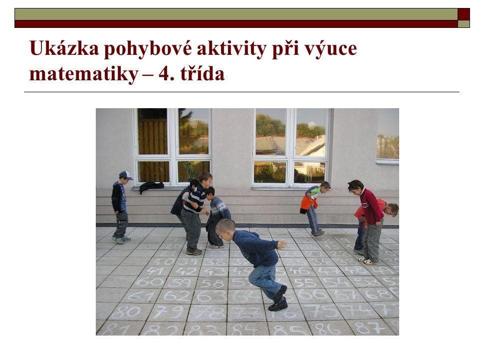Ukázka pohybové aktivity při výuce matematiky – 4. třída