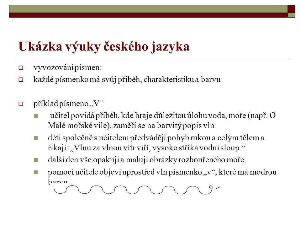 Ukázka výuky českého jazyka