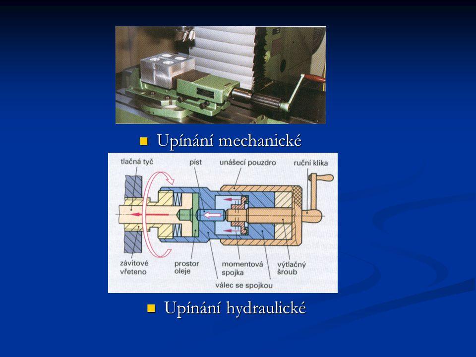 Upínání mechanické Upínání hydraulické