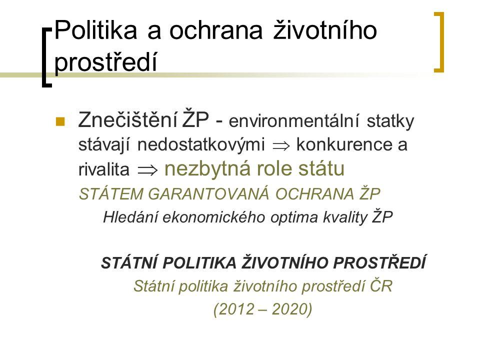 Politika a ochrana životního prostředí