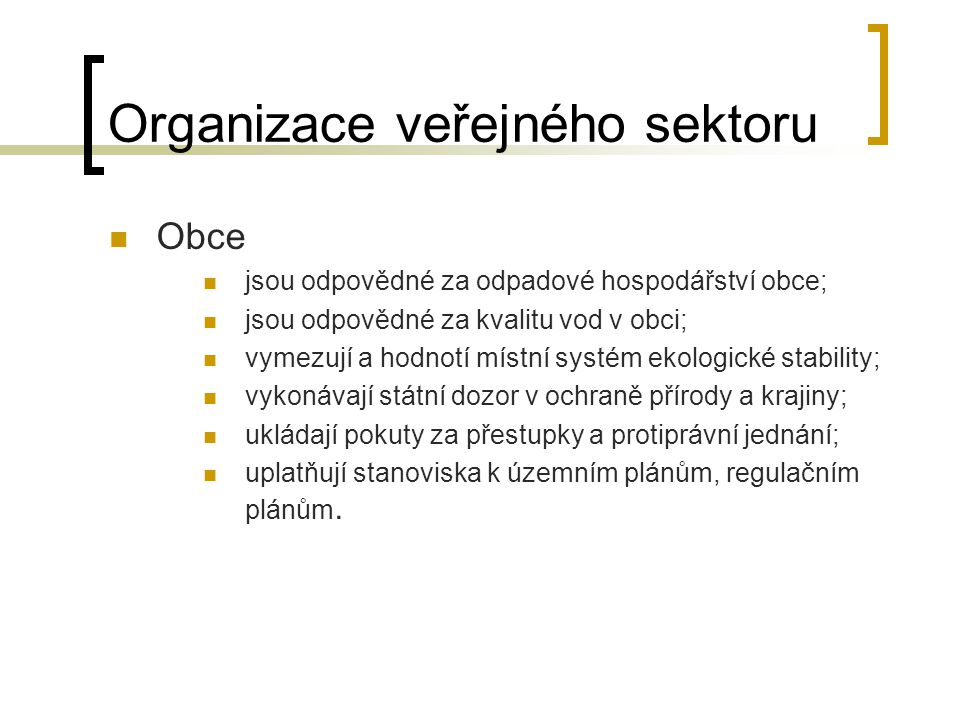 Organizace veřejného sektoru