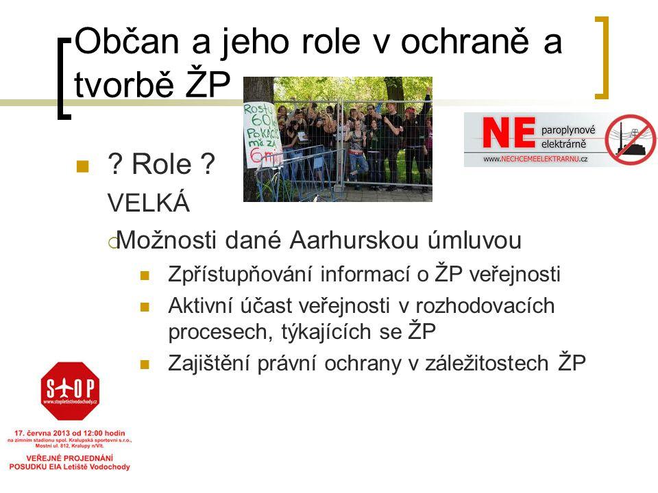 Občan a jeho role v ochraně a tvorbě ŽP