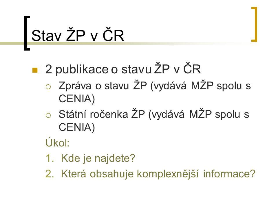 Stav ŽP v ČR 2 publikace o stavu ŽP v ČR